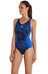 speedo Endurance+ Fit Splice Allover Muscleback Swimsuit Women black/deep peri